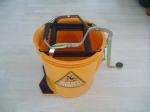 mop bucket, wringer bucket,commercial cleaning bucket, yellow bucket, sabco bucket