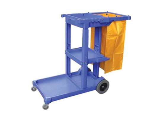cleaner's trolley, janitor's trolley, maids trolley, hotel cleaning trolley