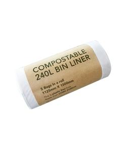 compostable 240L commercial wheelie bin liner ED-2240