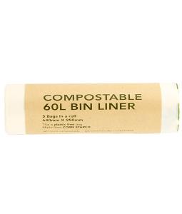 compostable 60L commercial bin liner ED-2060