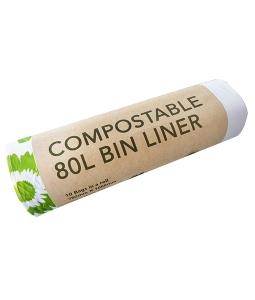 compostable 80L commercial bin liner ED-2080