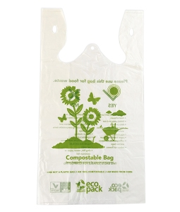 Compostable check out bag ED-202-N