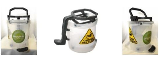 full plastic clear bucket, non metal bucket, prison cleaning supplies, mental health centre cleaning supplies, no metal bucket
