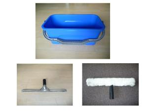 window squeegee, window bucket, T bar window washer, window cleaning kit, window cleaning set