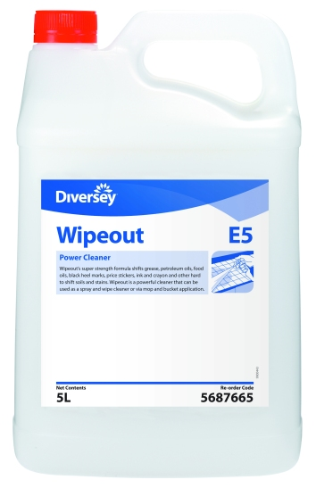 wipeout, Diversey wipe out floor cleaner, Diversey floor striper, diversey degreaser