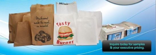 takeaway paper bags, cafe brown paper bags, paper bags pies and burgers