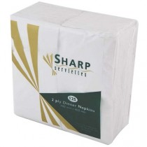 Sharp White Dinner 2ply Serviettes, dinner serviettes, sharp dinner 2ply seviette