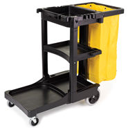 rubbermaid cleaning carts