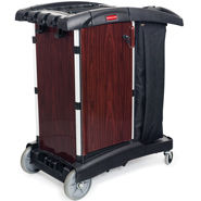 rubbermaid deluxe paneled housekeeping carts