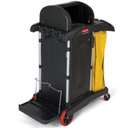 rubbermaid high security healthcare cleaning carts