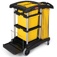 rubbermaid microfibre cleaning carts