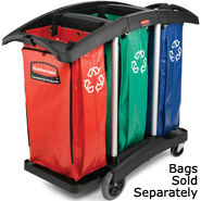 rubbermaid triple capacity cleaning carts