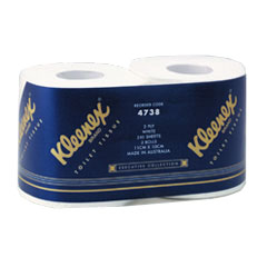 kimberley clark 4738 kleenex executive toilet tissue twin pack
