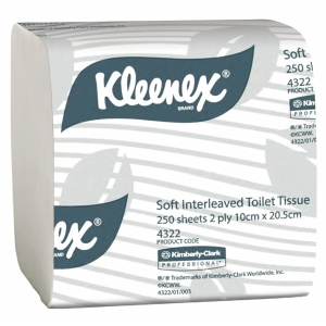 kimberley clark toillet tissue, 4322 KLEENEX Executive Soft Interleaved Toilet Tissue, kimberly clark kleenex products auckland