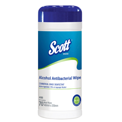 Scott Alcohol Antibacterial Wipe 4100, anitbacterial wipe
