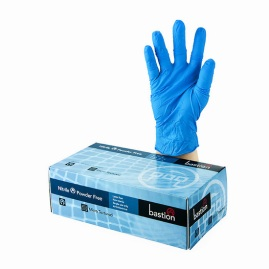 Gloves, Bastion Nitrile blue, powder free