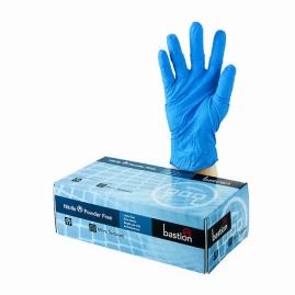 Gloves, Bastion Nitrile blue, powder free