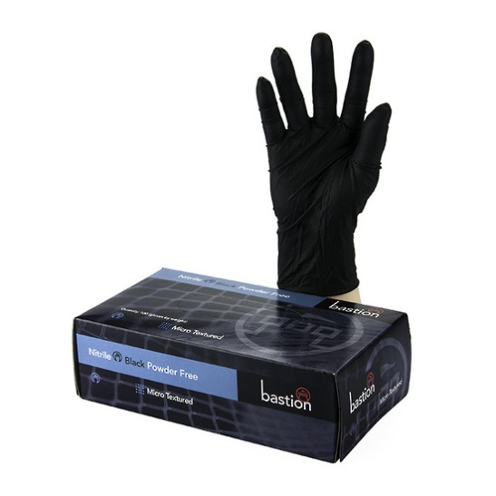 Gloves, Bastion Nitrile black, small