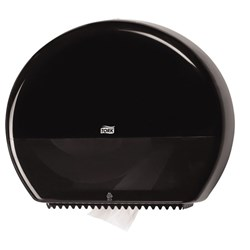 tork 554038, tork jumbo toilet roll dispenser, tork toilet paper dispenser T1, tork jumbo roll dispenser black