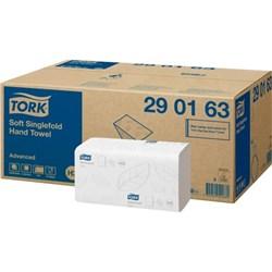 Tork Advanced Single Fold Hand Towel, Tork H3 Advanced Singlefold Hand Towel 290163 2ply white, tork centrefold hand towel advanced