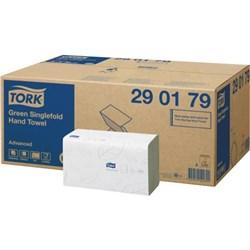 Tork Green Hand Towel, Tork H3 Advanced Singlefold Hand Towel 290163 2ply white, tork advanced green hand towel