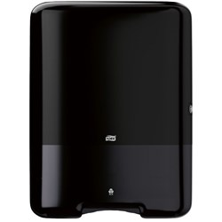 Tork Interfold hand towel large, Tork H3 Standard Interfold Hand Towel Dispenser 553008 Black, Tork black interfold dispenser