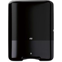 Tork Interfold hand towel large, Tork H3 Standard Interfold Hand Towel Dispenser 553008 Black, Tork black interfold dispenser