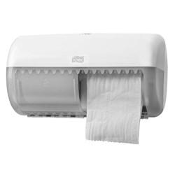 Tork 557000, tork conventional toilet roll dispenser white, tork toilet paper dispenser T4