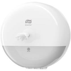 Tork 681000, tork SmartOne mini toilet roll dispenser white, Tork SmartOne toilet tissue dispenser T9