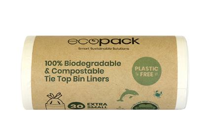 biodegradable and compostable tie top bin liners Caddy Liners 8L-10L