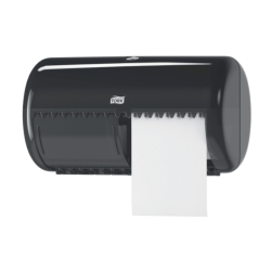 Tork 557008, tork conventional toilet roll dispenser black, tork toilet paper dispenser T4