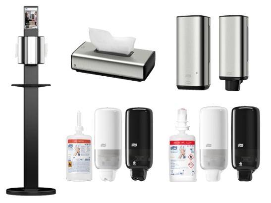 hand sanitiser stand, tork hygiene stand, hand sanitiser station